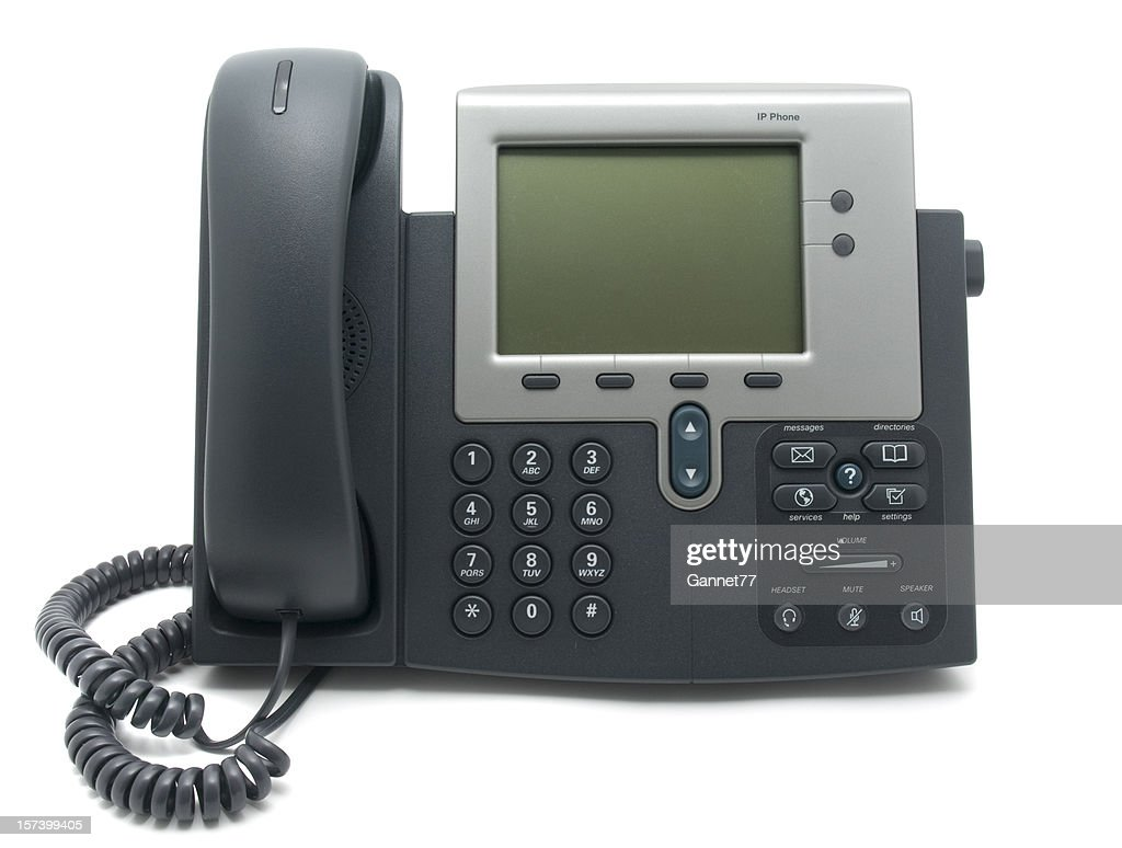 Modern IP Telephone : Stock Photo