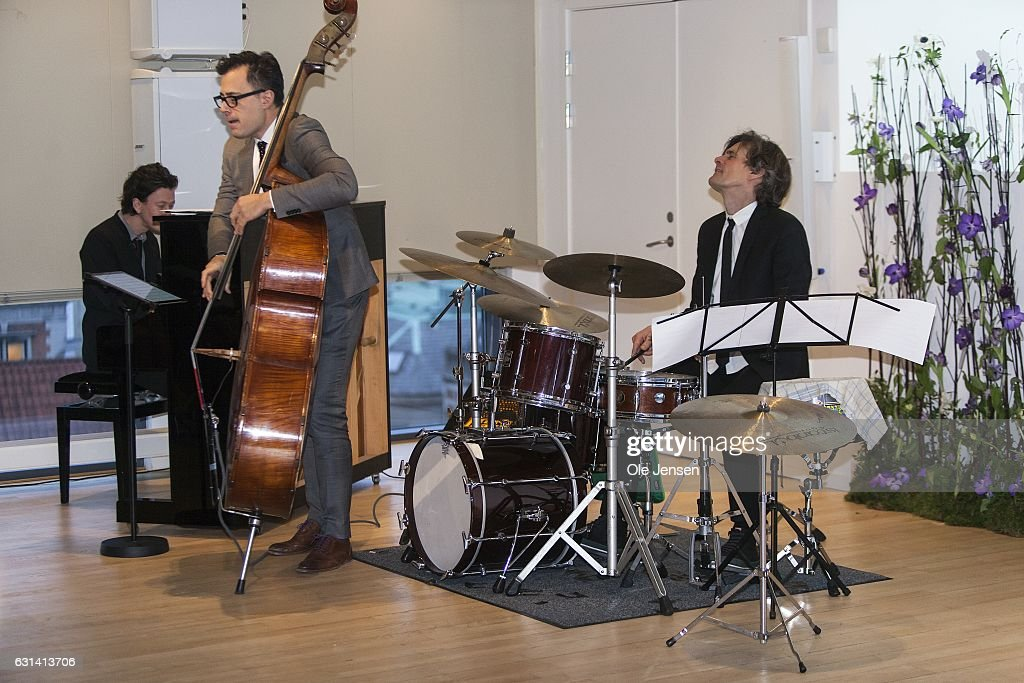 Modern jazz band the 'Chris Minh Doky Trio' perfom during The Berlingske Foundation's at The Berlingske Media house on January 10, 2017 in Copenhagen, Denmark.