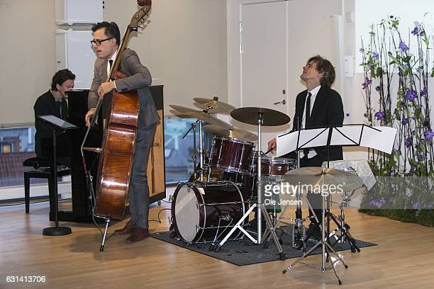 Modern jazz band the 'Chris Minh Doky Trio' perfom during The Berlingske Foundation's at The Berlingske Media house on January 10 2017 in Copenhagen...