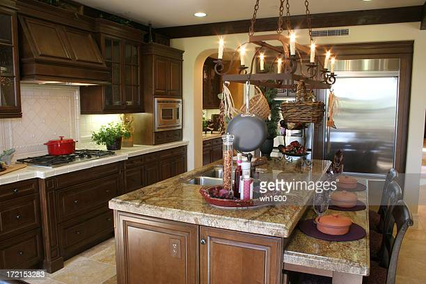 modern kitchen 2 - granite stock pictures, royalty-free photos & images