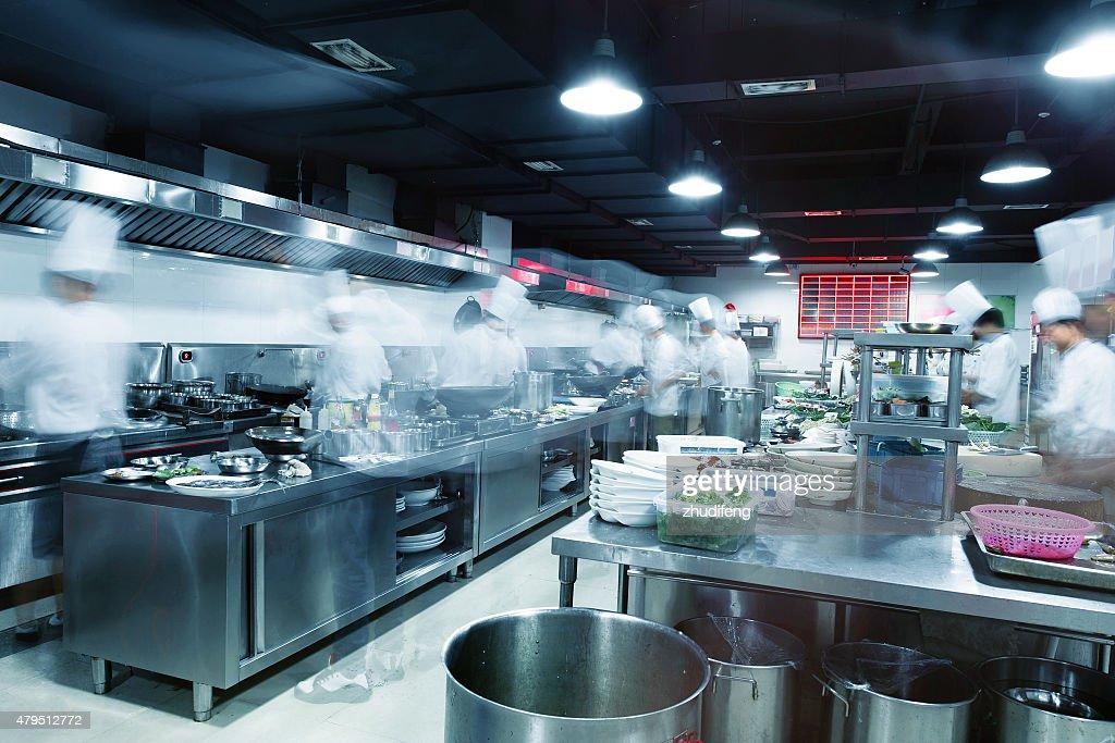 busy kitchen. Modern Kitchen And Busy Chefs