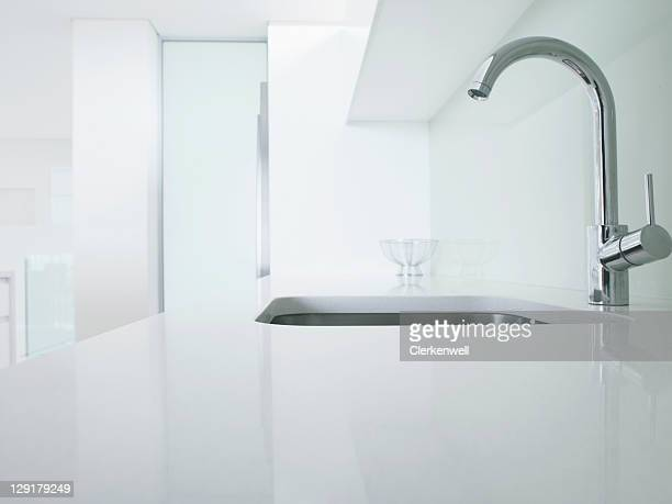 Modern kitchen faucet and sink