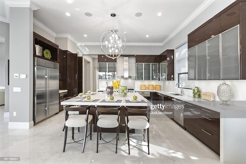 Modern kitchen house interior : Stock Photo
