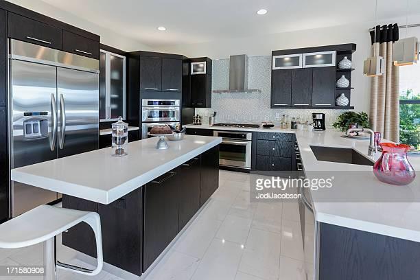 interior de cozinha moderna casa - copa - fotografias e filmes do acervo