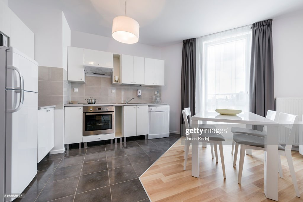 Modern kitchen interior design : Stock Photo