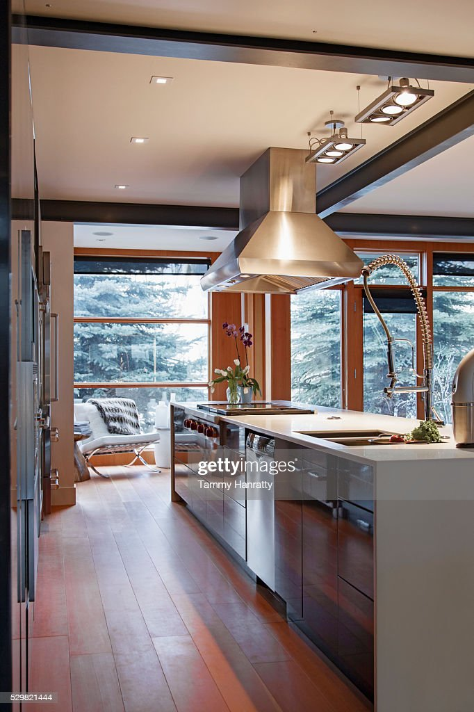Modern kitchen island : Stock Photo