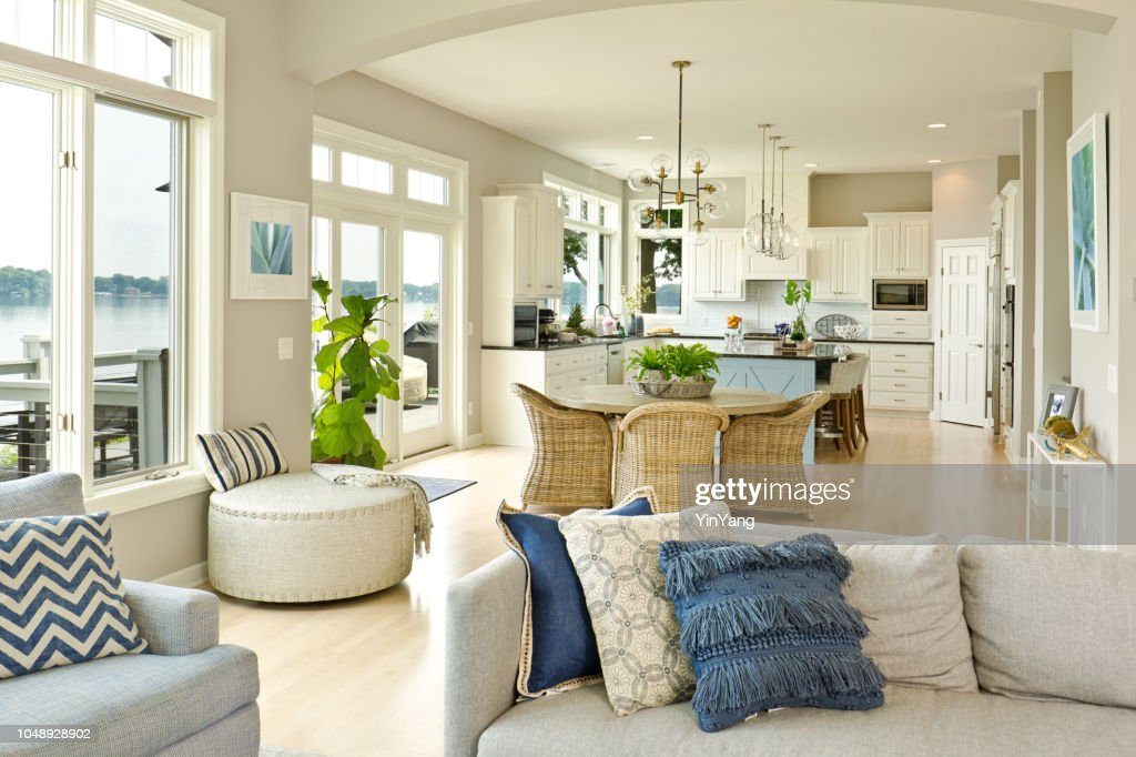 Modern Kitchen Living Room Hone Design With Open Concept