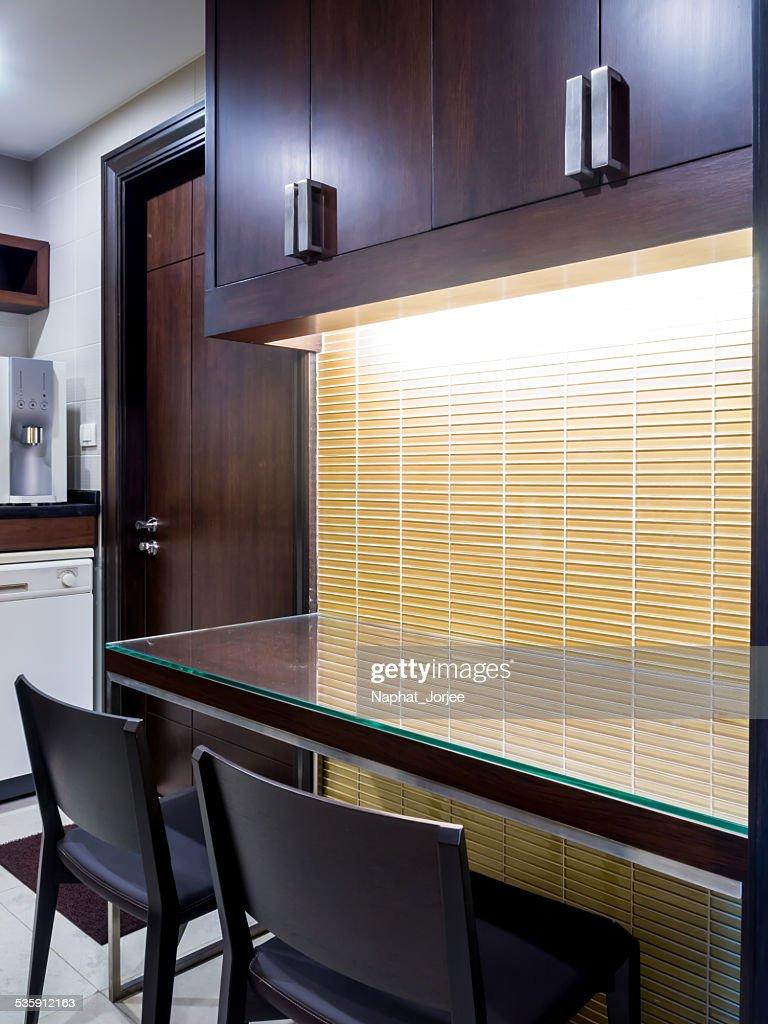 Moderno diseño interior de cocina & Pantry : Foto de stock