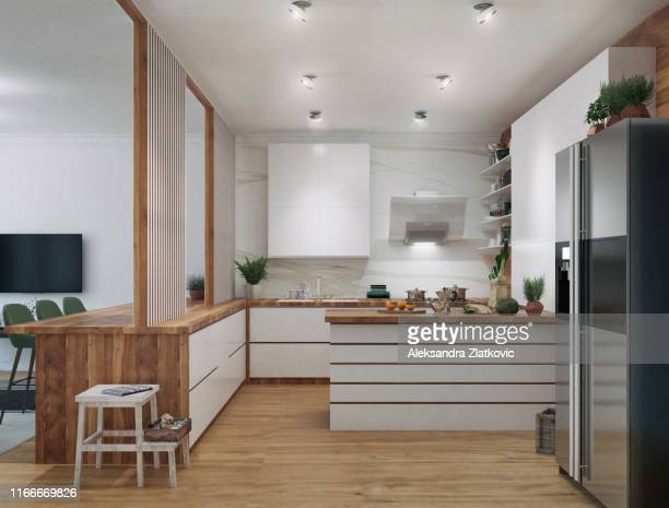 cucina moderna - cucina domestica foto e immagini stock