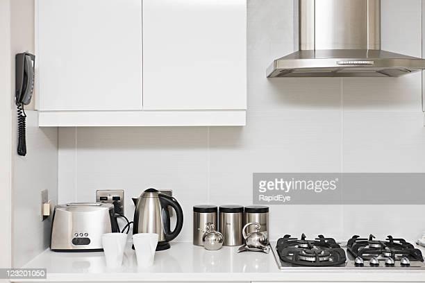 modern kitchen - afzuigapparaat stockfoto's en -beelden