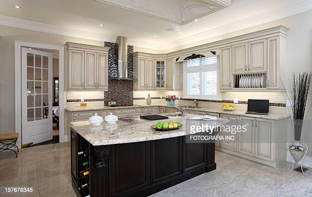 modern kitchen - build grill stock photos and pictures