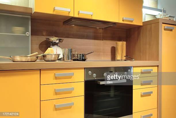 cozinha moderna - amarelo - fotografias e filmes do acervo