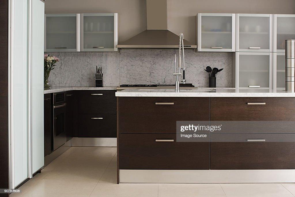 A modern kitchen : Stock Photo