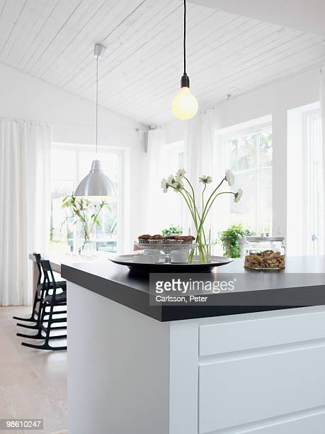 a modern kitchen, sweden. - scandinavia stock pictures, royalty-free photos & images