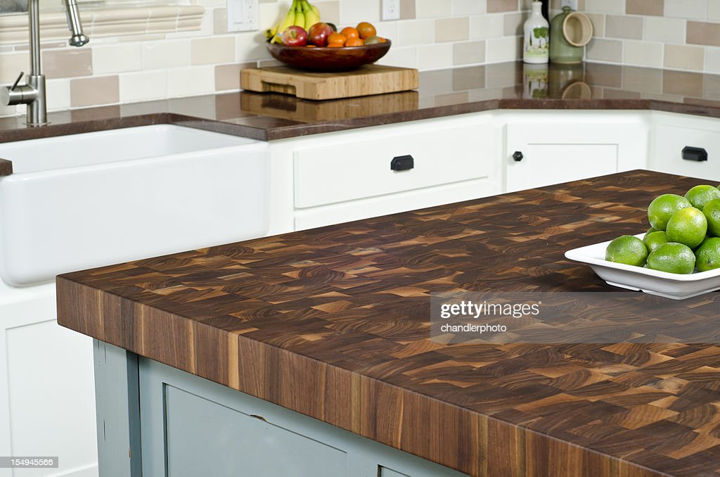 Modern kitchen with island : Stock Photo