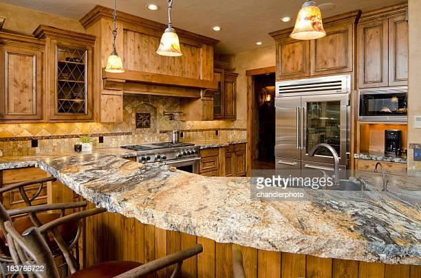 Modern kitchen with stone counters