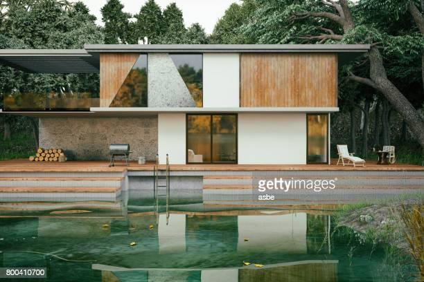 現代の湖の家