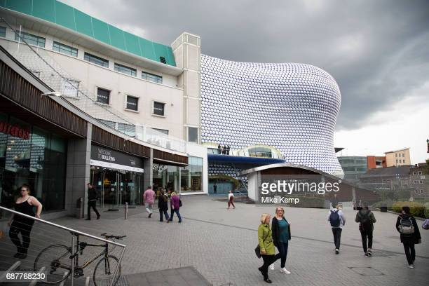 Modern landmark architecture of the Selfridges Building in Birmingham United Kingdom The building is part of the Bullring Shopping Centre and houses...