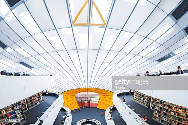 modern library - library stock photos and pictures