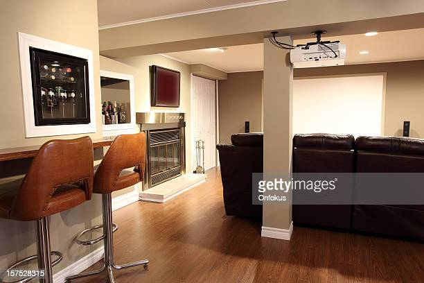 Moderna sala de estar y Home theater