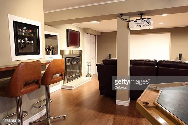 Moderne Wohnzimmer und Heimkino