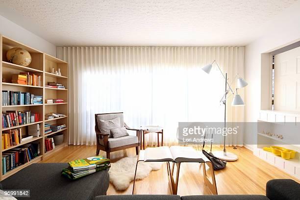 Modern living room drapes