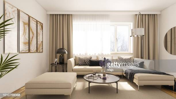 modern living room - indoors stock pictures, royalty-free photos & images