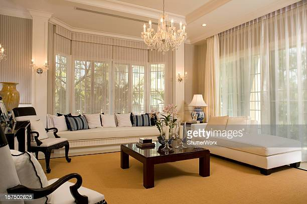 modern living room - classical style stock pictures, royalty-free photos & images
