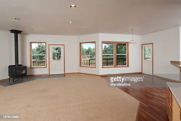 Modern living room that is empty