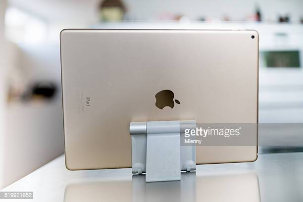 Modern Living Room with Apple iPad Pro Gold