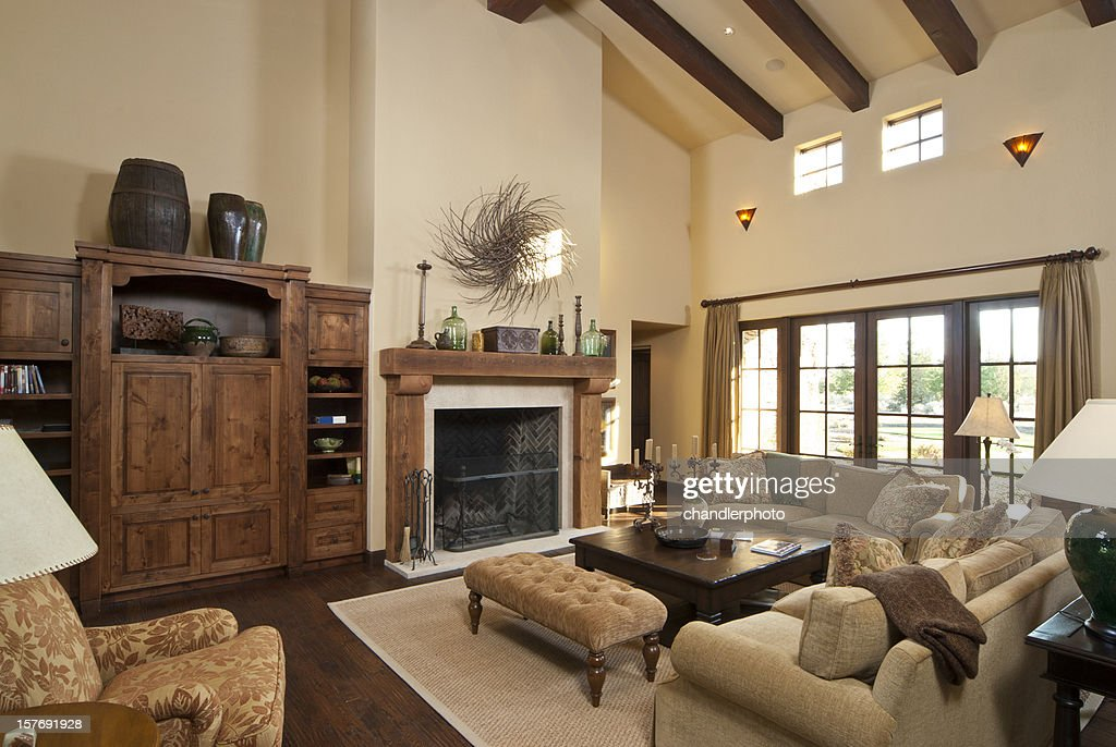 Modern living room with furnishing : Stock Photo