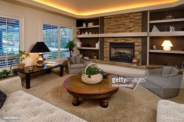 Sala de estar con decoración moderna