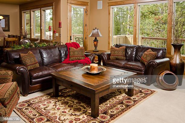 modern living room with furnishing - persian rug stock photos and pictures
