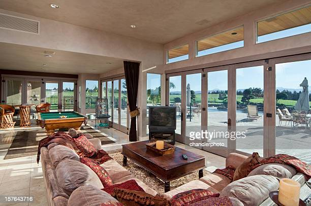 Modern living room with great view