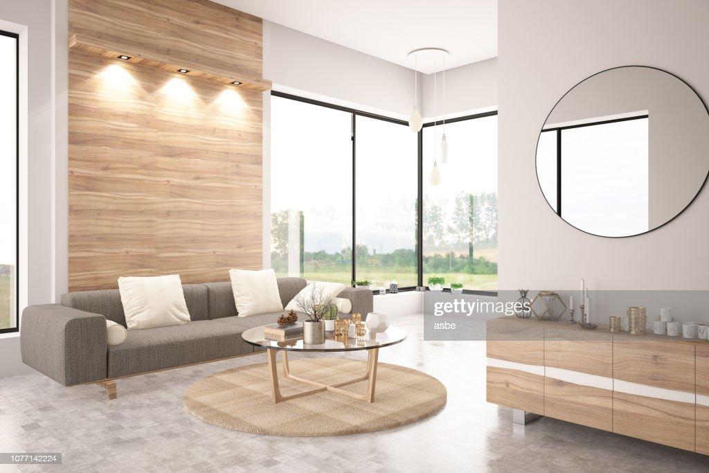 Modern Living Room with Sofa : Stock Photo
