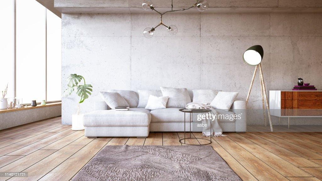 Moderne woonkamer met sofa : Stockfoto