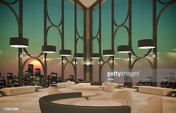 Moderne Lobby über die Stadt