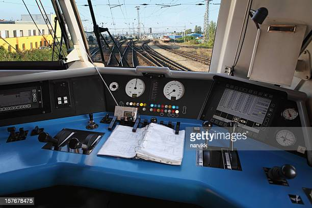 modern locomotive interior - control stock pictures, royalty-free photos & images