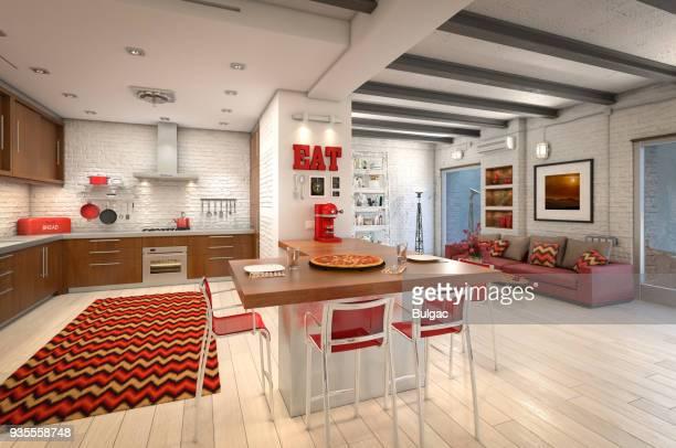 Modern Loft Apartment Interior