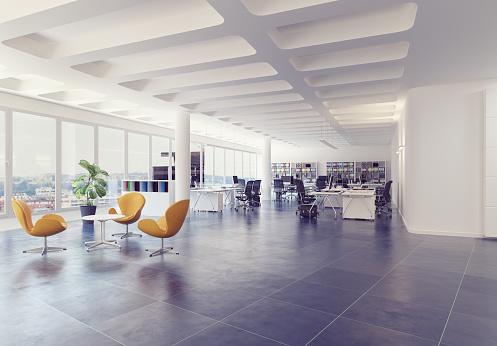 modern loft office interior. 996615754