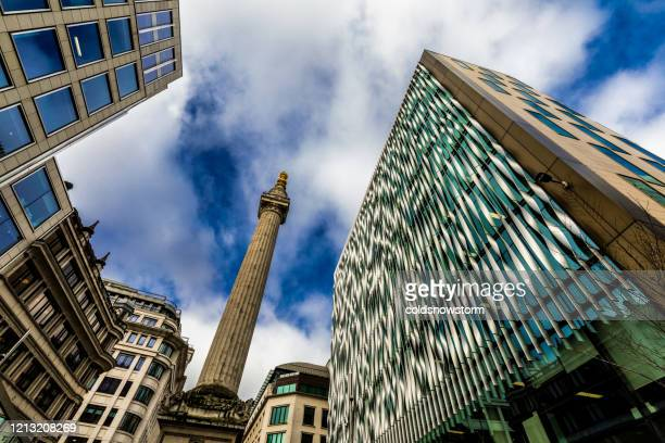 modern london architecture and monument in city of london - central london stock pictures, royalty-free photos & images