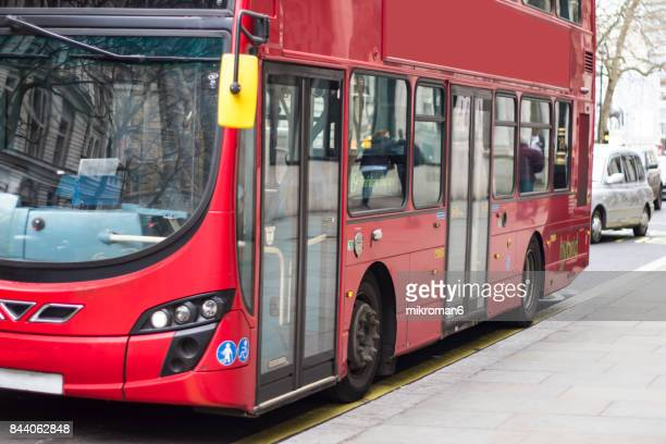 modern london bus - double decker bus stock pictures, royalty-free photos & images