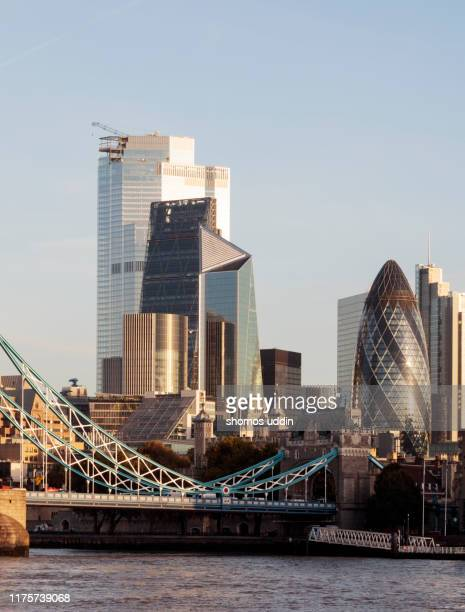 modern london skyline and the financial district - capital cities stock pictures, royalty-free photos & images