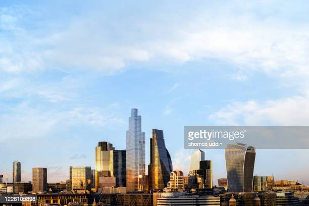 modern london skyline and the financial district - central london stock pictures, royalty-free photos & images
