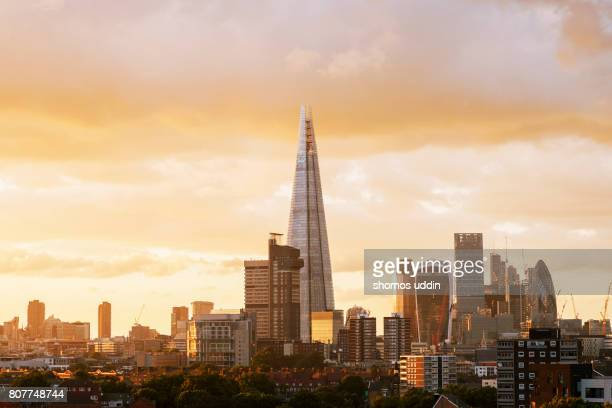 Modern London skyline - Elevated view