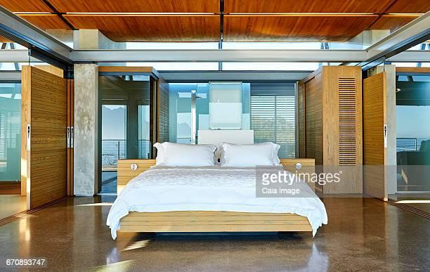 Modern luxury home showcase bedroom