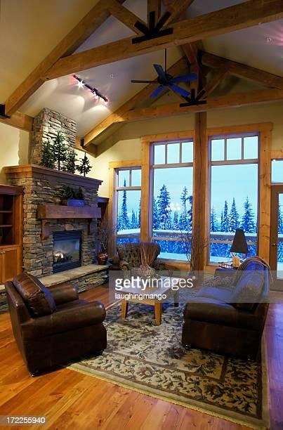 De luxe moderne intérieur de la salle de séjour