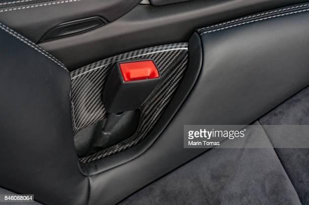 Modern luxury sports car seat belt buckle