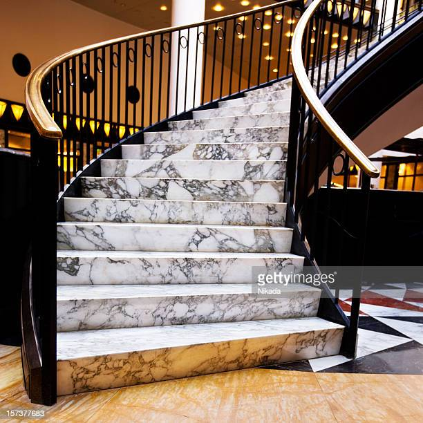 modern luxury staircase - granite rock stock pictures, royalty-free photos & images