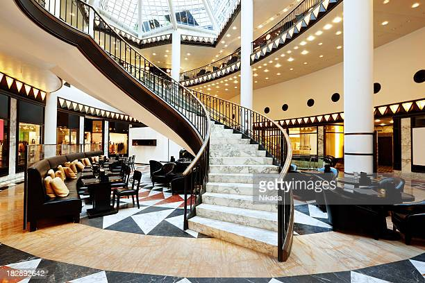 modern luxury staircase - hotel lobby stock pictures, royalty-free photos & images